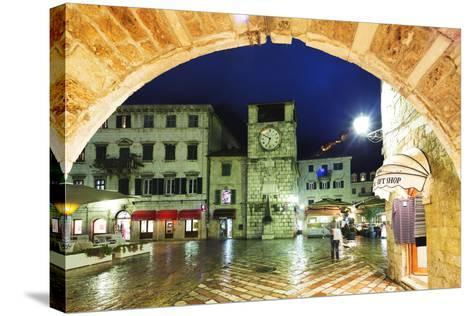 Clock Tower, Kotor, UNESCO World Heritage Site, Montenegro, Europe-Christian Kober-Stretched Canvas Print