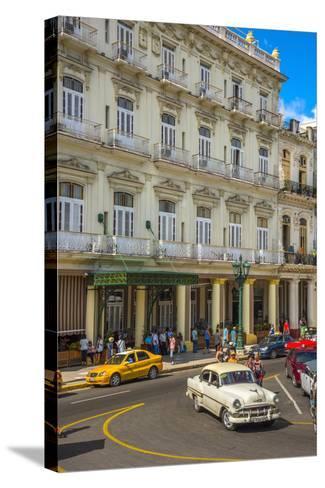 Hotel Inglaterra, Havana, Cuba, West Indies, Caribbean, Central America-Alan Copson-Stretched Canvas Print
