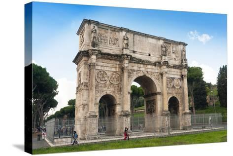Arch of Constantine, Arco Di Costantino, Rome, UNESCO World Heritage Site, Latium, Italy, Europe-Nico Tondini-Stretched Canvas Print