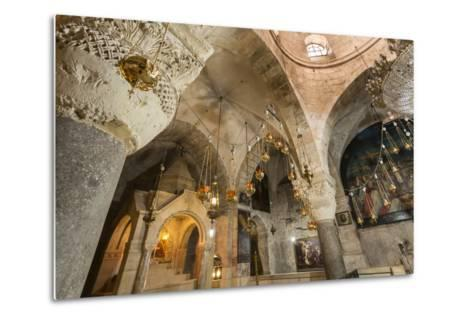 Chapel, Church of the Holy Sepulchre, Old City, Christian Quarter, Jerusalem, Middle East-Eleanor Scriven-Metal Print