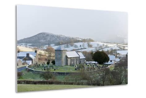 St. David's Church, Llanddewi'R Cwm, Powys, Wales, United Kingdom, Europe-Graham Lawrence-Metal Print