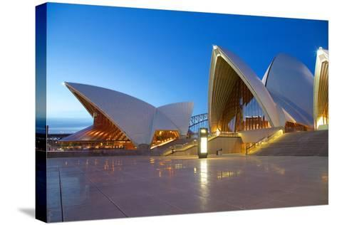 Sydney Opera House at Dusk, UNESCO World Heritage Site, Sydney, New South Wales, Australia, Oceania-Frank Fell-Stretched Canvas Print