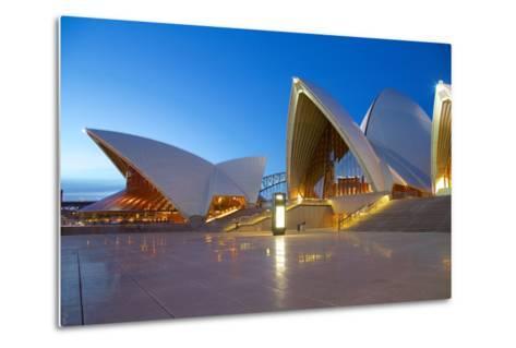 Sydney Opera House at Dusk, UNESCO World Heritage Site, Sydney, New South Wales, Australia, Oceania-Frank Fell-Metal Print