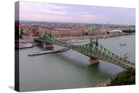 Szabadsag Hid (Liberty Bridge), Budapest, Hungary, Europe-Carlo Morucchio-Stretched Canvas Print