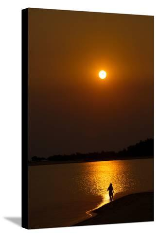 Sunset over the Tapajos River, Amazon, Alter Do Chao, Para, Brazil, South America-Alex Robinson-Stretched Canvas Print
