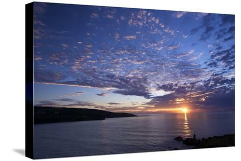 Sunset over Porthmeor Beach in St. Ives, Cornwall, England, United Kingdom, Europe-Peter Barritt-Stretched Canvas Print