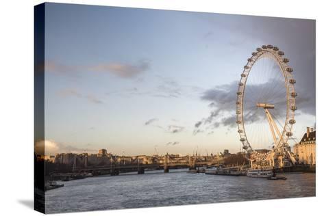 The London Eye at Sunset (Millennium Wheel), South Bank, London, England, United Kingdom, Europe-Matthew Williams-Ellis-Stretched Canvas Print