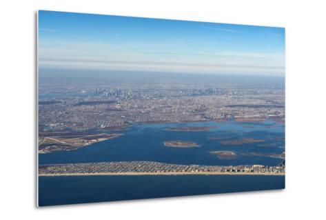 Aerial of New York, United States of America, North America-Michael Runkel-Metal Print