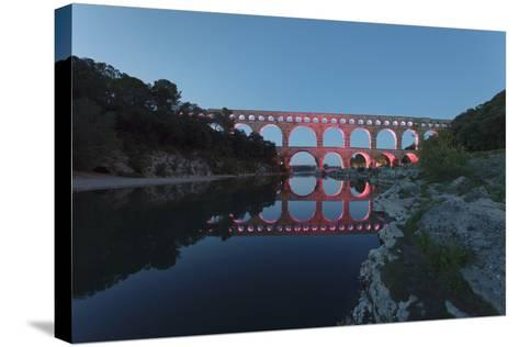 Pont Du Gard, Roman Aqueduct, River Gard, Languedoc-Roussillon, Southern France, France-Markus Lange-Stretched Canvas Print