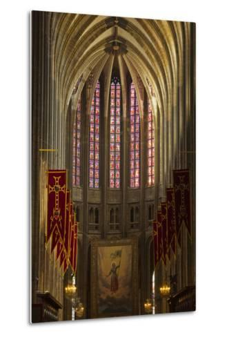 Looking Down the Nave of Cathedrale Sainte Croix D'Orleans (Cathedral of Orleans), Loiret, France-Julian Elliott-Metal Print