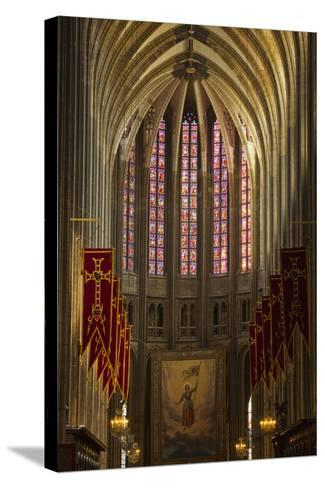 Looking Down the Nave of Cathedrale Sainte Croix D'Orleans (Cathedral of Orleans), Loiret, France-Julian Elliott-Stretched Canvas Print