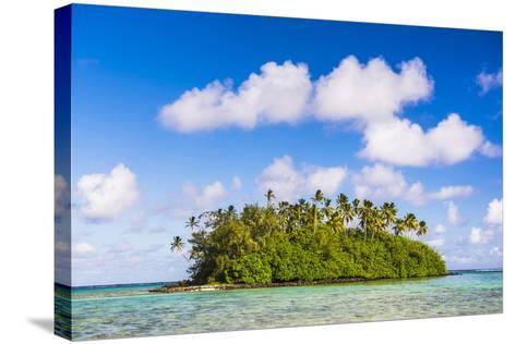 Tropical Island of Motu Taakoka Covered in Palm Trees in Muri Lagoon, Cook Islands, Pacific-Matthew Williams-Ellis-Stretched Canvas Print
