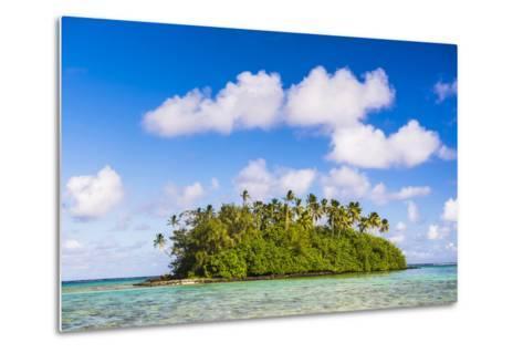 Tropical Island of Motu Taakoka Covered in Palm Trees in Muri Lagoon, Cook Islands, Pacific-Matthew Williams-Ellis-Metal Print