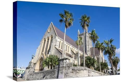 Bermuda Anglican Cathedral, Hamilton Capital Of, Bermuda, United Kingdom-Michael Runkel-Stretched Canvas Print