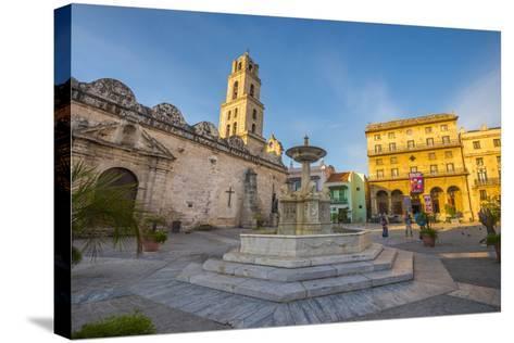 Plaza De San Francisco De Asis, La Habana Vieja (Old Havana), Havana, Cuba, West Indies, Caribbean-Alan Copson-Stretched Canvas Print