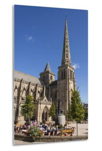 Saint Tugdual Cathedral, Treguier, Cotes D'Armor, Brittany, France, Europe-Guy Thouvenin-Metal Print
