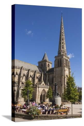 Saint Tugdual Cathedral, Treguier, Cotes D'Armor, Brittany, France, Europe-Guy Thouvenin-Stretched Canvas Print