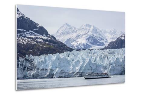 A Tourist Ship Explores the Lamplugh Glacier in Glacier Bay National Park and Preserve, Alaska-Michael Nolan-Metal Print