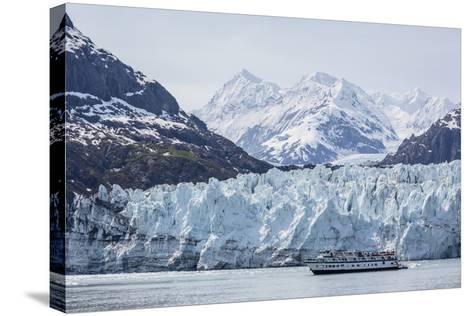 A Tourist Ship Explores the Lamplugh Glacier in Glacier Bay National Park and Preserve, Alaska-Michael Nolan-Stretched Canvas Print