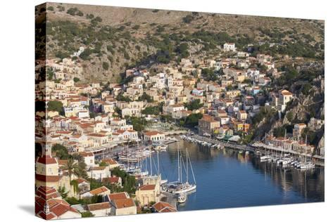 View over the Colourful Harbour, Dodecanese Islands-Ruth Tomlinson-Stretched Canvas Print