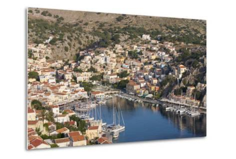 View over the Colourful Harbour, Dodecanese Islands-Ruth Tomlinson-Metal Print