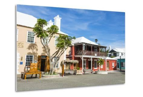 Colonial Houses in the UNESCO World Heritage Site, the Historic Town of St George, Bermuda-Michael Runkel-Metal Print