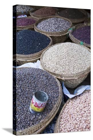 Pulses in the Market, Monywa, Sagaing, Myanmar, Southeast Asia-Alex Robinson-Stretched Canvas Print