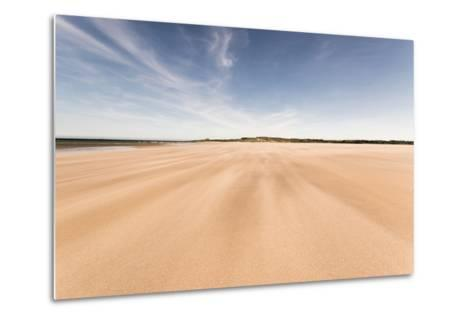 Budle Bay, Looking Towards Bamburgh, Northumberland, England, United Kingdom, Europe-Bill Ward-Metal Print