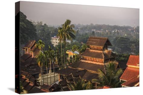 Kyaik Tan Lan Pagoda, the Hill Top Temple in Mawlamyine, Mon State, Myanmar (Burma), Asia-Matthew Williams-Ellis-Stretched Canvas Print