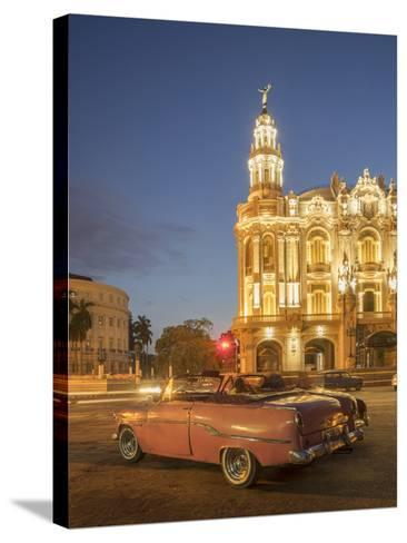 Old American Car, Havana, Cuba, West Indies, Caribbean, Central America-Angelo Cavalli-Stretched Canvas Print