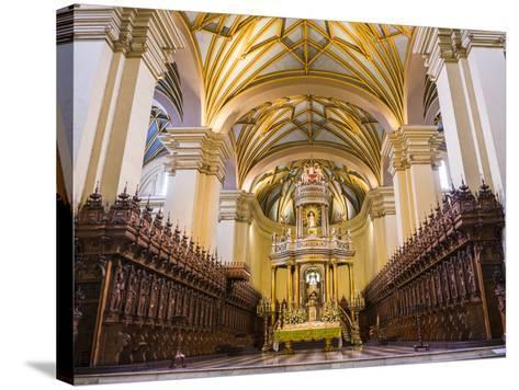 Basilica Cathedral of Lima Interior, Plaza De Armas (Plaza Mayor), Lima, Lima Province, Peru-Matthew Williams-Ellis-Stretched Canvas Print