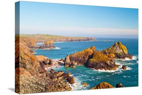 Kynance Cove, Lizard, Cornwall, England, United Kingdom, Europe-Kav Dadfar-Stretched Canvas Print