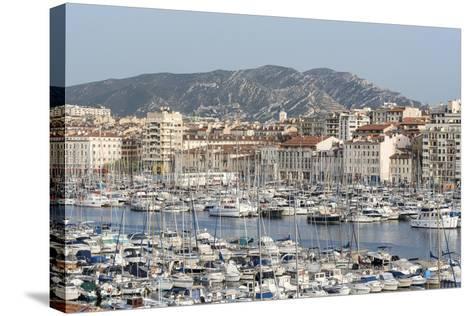 The Old Port of Marseille (Vieux Port) in Marseille, Mediterranean-Chris Hepburn-Stretched Canvas Print