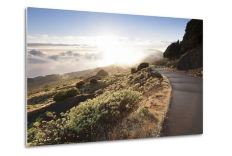 Road at the South Coast at Sunset, Near Orchilla Volcano, El Hierro, Canary Islands, Spain-Markus Lange-Metal Print