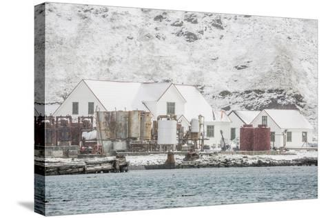 British Antarctic Survey Research Station-Michael Nolan-Stretched Canvas Print