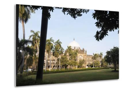 Exterior of Prince of Wales Museum, Mumbai (Bombay), India, South Asia-Ben Pipe-Metal Print