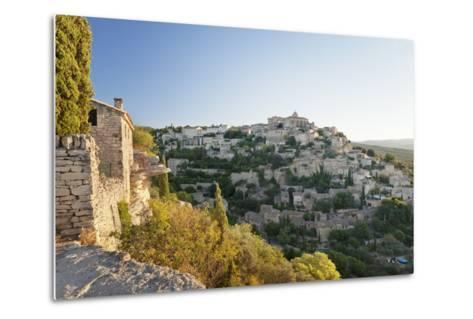 Hilltop Village of Gordes with Castle and Church at Sunrise, Provence-Alpes-Cote D'Azur, France-Markus Lange-Metal Print