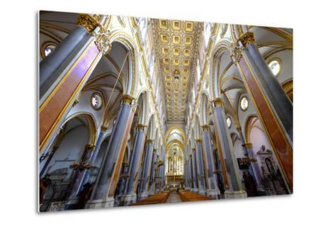 San Domenico Maggiore Church, Naples, Campania, Italy, Europe-Carlo Morucchio-Metal Print