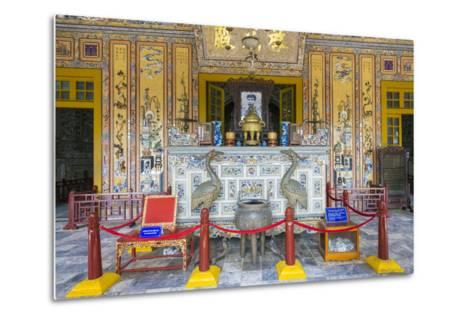 Interior of Tomb of Khai Dinh (Lang Khai Dinh), Thua Thien-Hue Province, Vietnam-Jason Langley-Metal Print