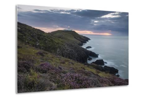 Strumble Head Lighthouse at Dusk, Pembrokeshire Coast National Park, Wales, United Kingdom, Europe-Ben Pipe-Metal Print