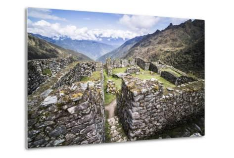Sayacmarca (Sayaqmarka) Inca Ruins, Inca Trail Trek Day 3, Cusco Region, Peru, South America-Matthew Williams-Ellis-Metal Print