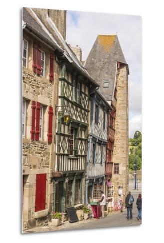 Half Timbered Houses, Old Town, Treguier, Cotes D'Armor, Brittany, France, Europe-Guy Thouvenin-Metal Print