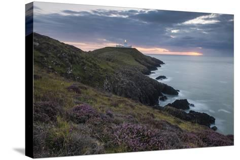Strumble Head Lighthouse at Dusk, Pembrokeshire Coast National Park, Wales, United Kingdom, Europe-Ben Pipe-Stretched Canvas Print