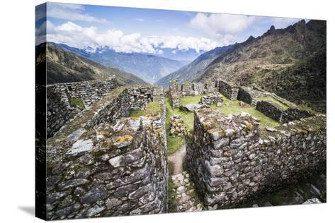 Sayacmarca (Sayaqmarka) Inca Ruins, Inca Trail Trek Day 3, Cusco Region, Peru, South America-Matthew Williams-Ellis-Stretched Canvas Print