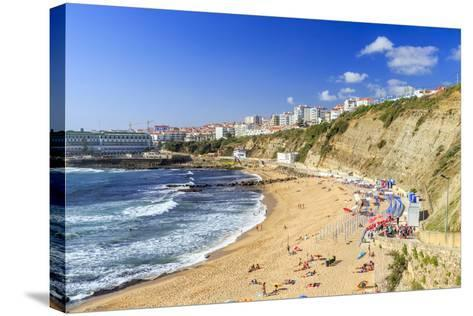 Top View of the Village of Ericeira-Roberto Moiola-Stretched Canvas Print
