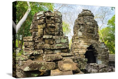 Banteay Chhmar, Ankorian-Era Temple Ruins, Banteay Meanchey Province, Cambodia, Indochina-Jason Langley-Stretched Canvas Print