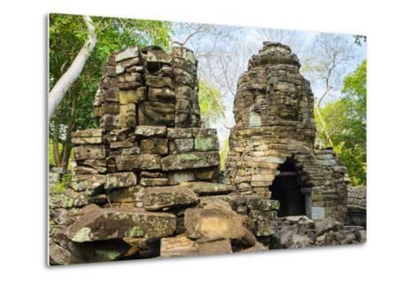 Banteay Chhmar, Ankorian-Era Temple Ruins, Banteay Meanchey Province, Cambodia, Indochina-Jason Langley-Metal Print