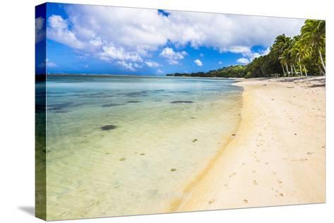 Tropical Beach in Muri Area of Rarotonga, Cook Islands, South Pacific, Pacific-Matthew Williams-Ellis-Stretched Canvas Print