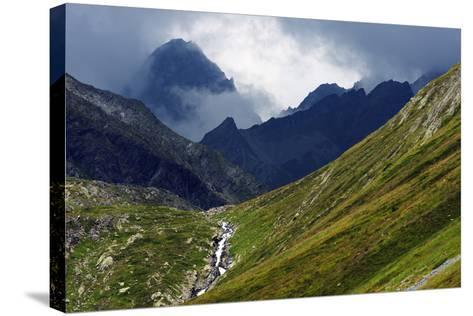 Mountain Scenery in the Unterengadin, Engadine, Graubunden, Switzerland, Europe-Christian Kober-Stretched Canvas Print