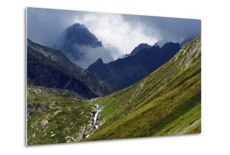 Mountain Scenery in the Unterengadin, Engadine, Graubunden, Switzerland, Europe-Christian Kober-Metal Print